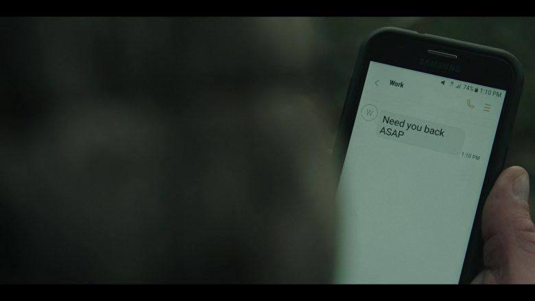 "Samsung Galaxy Smartphone in The Outsider Season 1 Episode 2 ""Roanoke"" (2020) TV Show"