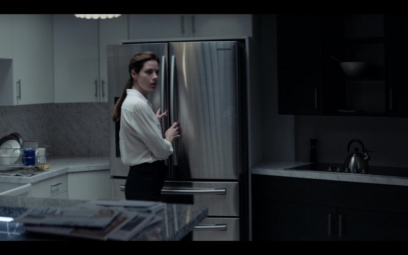 Samsung Refrigerator Used by Michelle Monaghan as Eva Geller in Messiah Season 1 Episode 8 Force Majeure