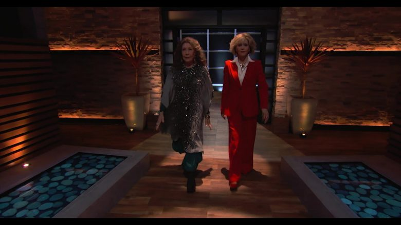 """Shark Tank American Business Reality Television Series Starring Lily Tomlin & Jane Fonda in Grace and Frankie Season 6 Episode 12 """"The Tank"""" (2020) TV Show"""
