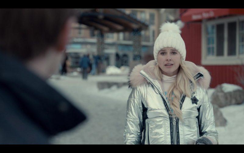 Sportalm Jacket Worn by Sarah Wright Olsen as Mandy Davis in Spinning Out Season 1 Episode 4 Keep Pinecrest Wild (5)