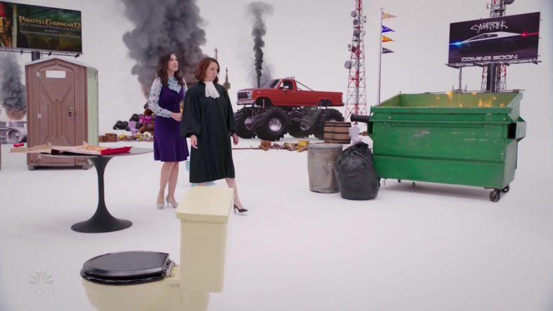 "Tesla Cybertruck Billboard in The Good Place Season 4 Episode 10 ""You've Changed, Man"" (2020) TV Show"
