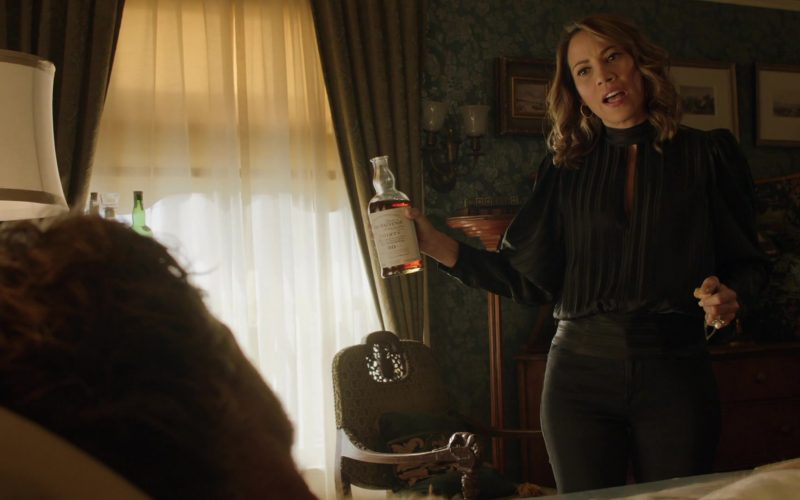 The Balvenie 30 Year Old Whisky Bottle Held by Elizabeth Rodriguez in Shameless Season 10 Episode 9 O Captain, My Captain