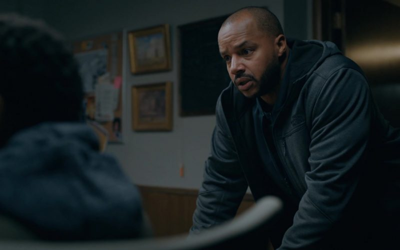 The North Face Hoodie Worn by Donald Faison as Alex Evans in Emergence Season 1 Episode 11 Applied Sciences