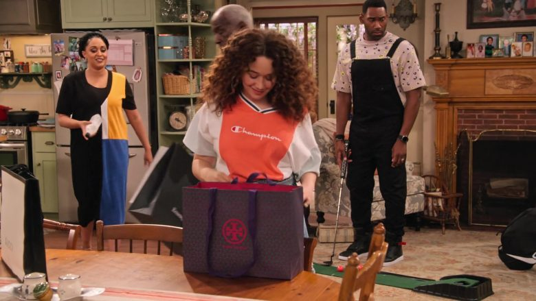 """Tory Burch Store Paper Bag in Family Reunion Season 1 Episode 20 """"Remember When the Party Was Over?"""" (2020) TV Show"""