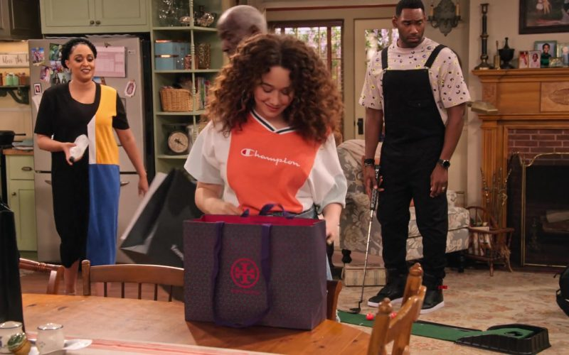 Tory Burch Store Paper Bag in Family Reunion Season 1 Episode 20 Remember When the Party Was Over (2020)