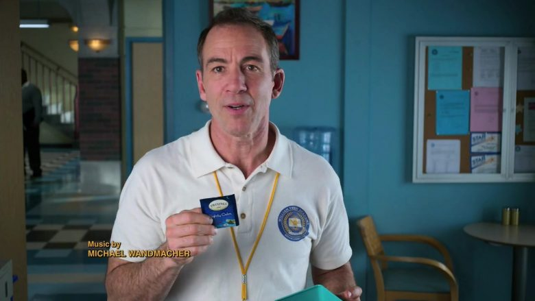"Twinings Tea Held by Bryan Callen as Coach Rick Mellor in Schooled Season 2 Episode 12 ""FeMellor"" (2020) TV Show"