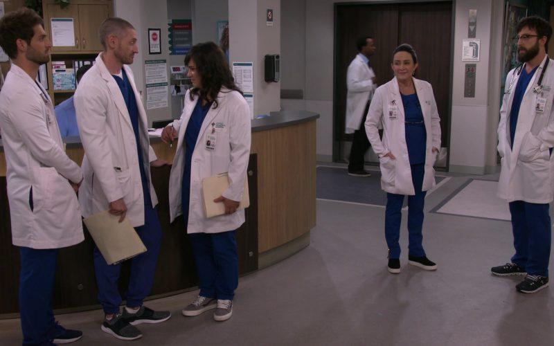 Vans Grey Shoes Worn by Sabrina Jalees as Dr. Lexie Gilani in Carol's Second Act Season 1 Episode 11 Blocking