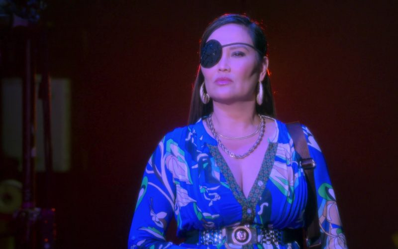 Versace Vest Worn by Tia Carrere as Lady Danger in AJ and the Queen Season 1 Episode 10 Dallas (2)
