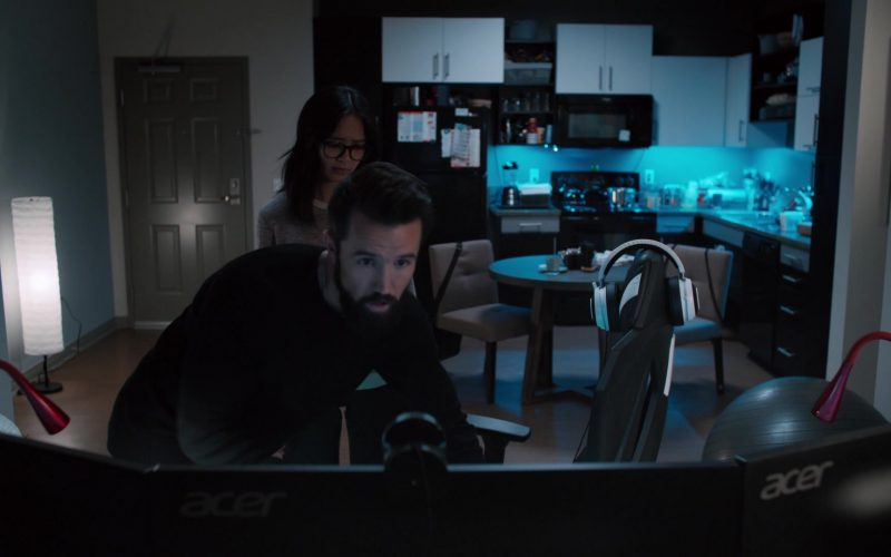 Acer Monitors Used by Rob McElhenney as Ian Grimm in Mythic Quest Raven's Banquet Season 1 Episode 9 Blood Ocean (2020)