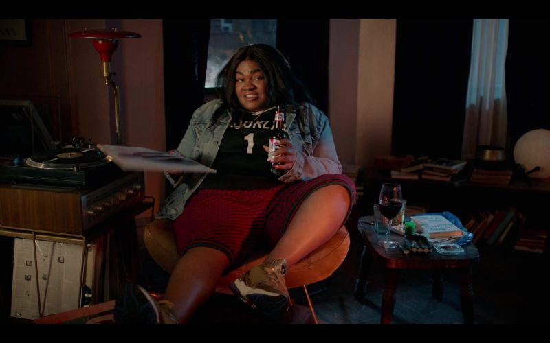 Adidas Gold Sneakers Worn by Da'Vine Joy Randolph as Cherise and Pabst Beer Bottle in High Fidelity Season 1 Episode 2 Track 2 (2
