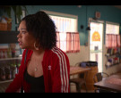 Adidas Red Jacket Worn by Julissa Calderon as Yessika Flores in Gentefied S01E09 (1)
