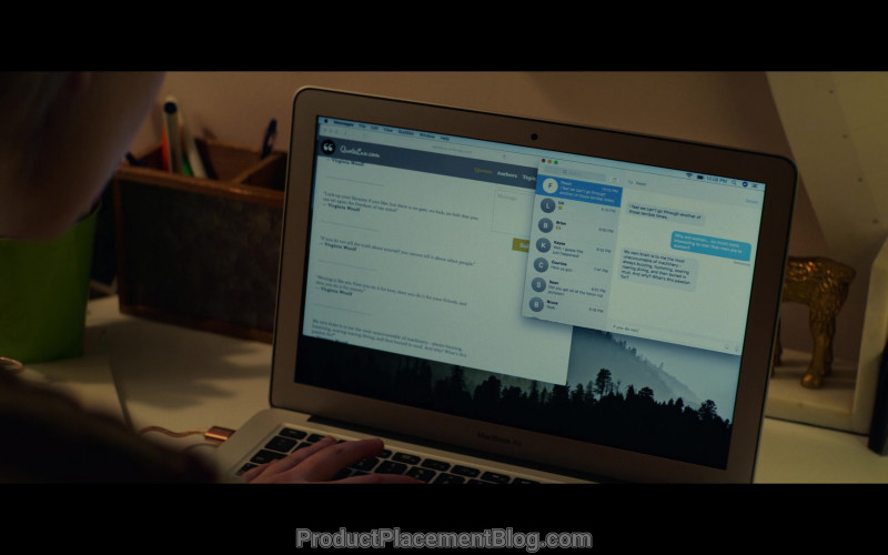 Apple MacBook Air Laptop Used by Elle Fanning as Violet Markey in All the Bright Places (1)