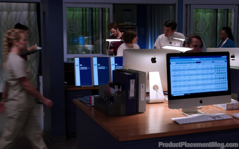 Apple iMac Computers in Chicago Med S05E15 I Will Do No Harm (1)