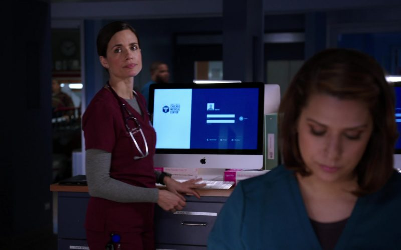 Apple iMac Computers in Chicago Med Season 5 Episode 13 Pain Is for the Living (3)