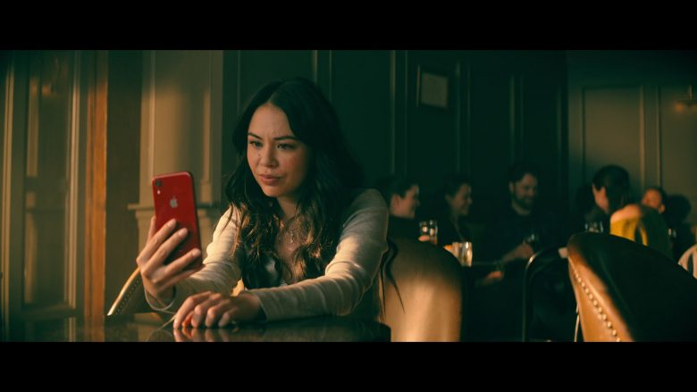Apple iPhone Red Mobile Phone Used by Janel Parrish as Margot 'Gogo' Song Covey in To All the Boys: P.S. I Still Love You (2020) Movie