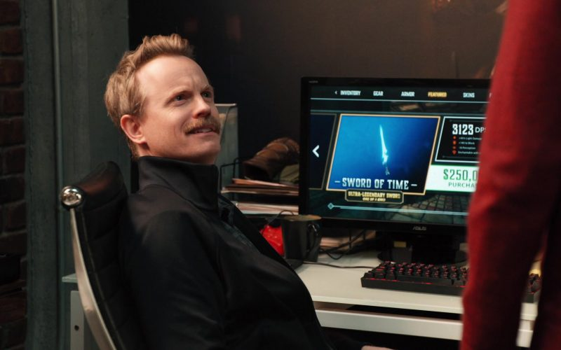 Asus Computer Monitor Used by David Hornsby in Mythic Quest Raven's Banquet Season 1 Episode 8 Brendan (2020)