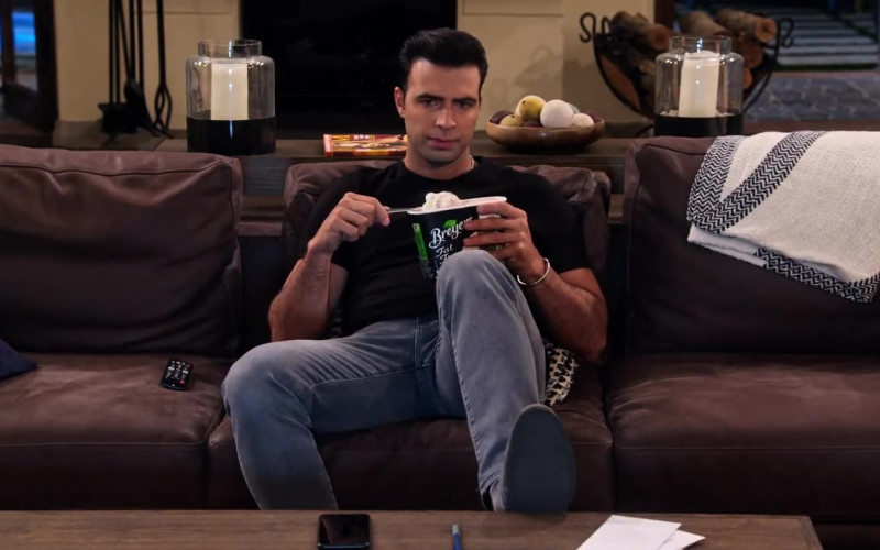 Breyers Fat Free Ice Cream Enjoyed by Jencarlos Canela as Victor in The Expanding Universe of Ashley Garcia Season 1 Epis