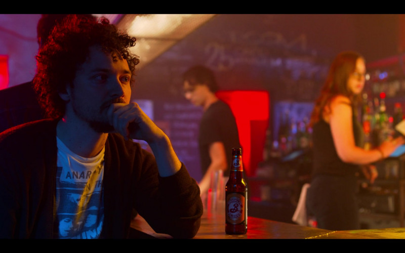 Brooklyn Pilsner Beer Enjoyed by David H. Holmes as Simon in High Fidelity Season 1 Episode 8