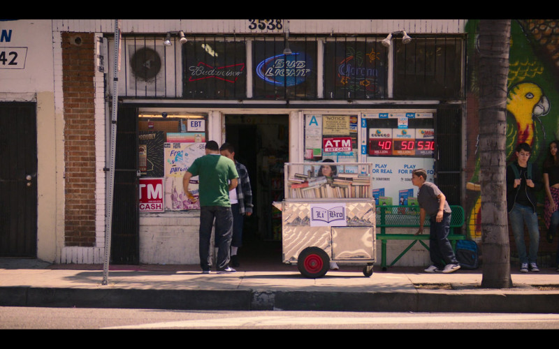 Budweiser, Bud Light and Corona Signs in Gentefied S01E09 Protest Tacos (2020)