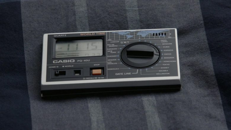 Casio PQ-40U World Time Alarm Travel Clock Radio in Kidding Season 2 Episode 3