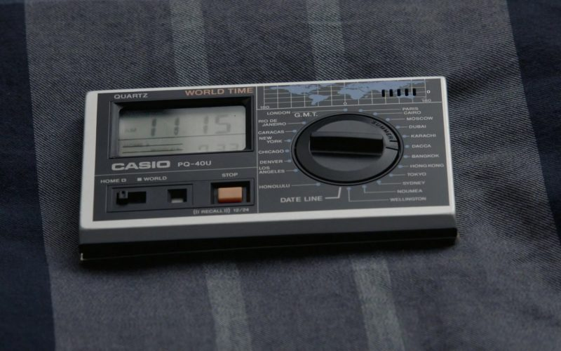 Casio PQ-40U World Time Alarm Travel Clock Radio in Kidding Season 2 Episode 3