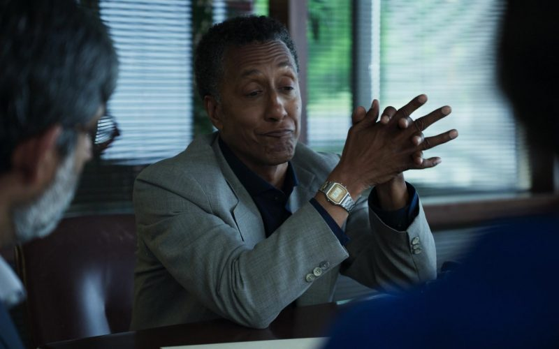 Casio Watch Worn by Andre Royo as Charlie Shannon in Interrogation Season 1 Episode 9 P.I. Charlie Shannon vs Amy Harlow 2003 (2020)