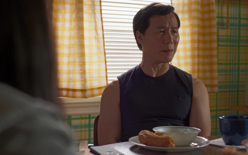 Champion T-Shirt Worn by BD Wong as Wally in Awkwafina Is Nora from Queens S01E05 Not Today