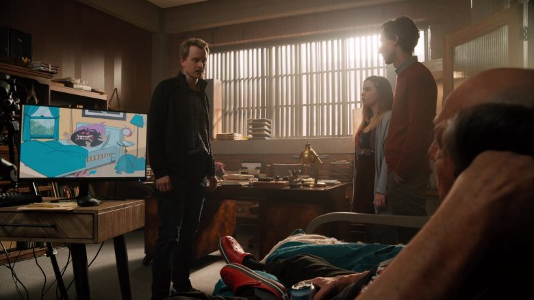"Crocs Red Sandals in Mythic Quest: Raven's Banquet Season 1 Episode 8 ""Brendan"" (2020) TV Show"