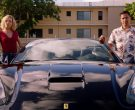 Ferrari Black Convertible Sports Car Used by Jay Hernandez & Perdita Weeks in Magnum P.I. Season 2 Episode 14 (1)