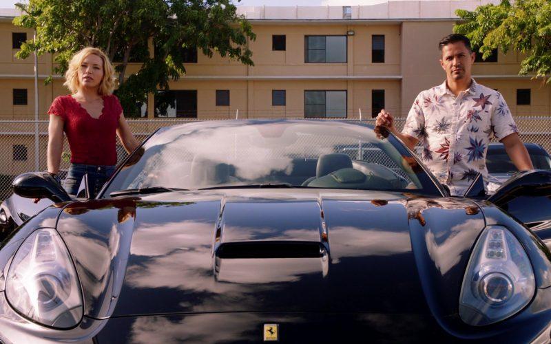 Ferrari Black Convertible Sports Car Used by Jay Hernandez & Perdita Weeks in Magnum P.I. Season 2 Episode 14 (1)