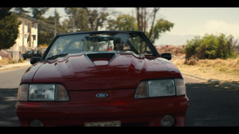 Ford Mustang Red Convertible Car in Narcos Mexico Season 2 Episode 5 AFO (1)