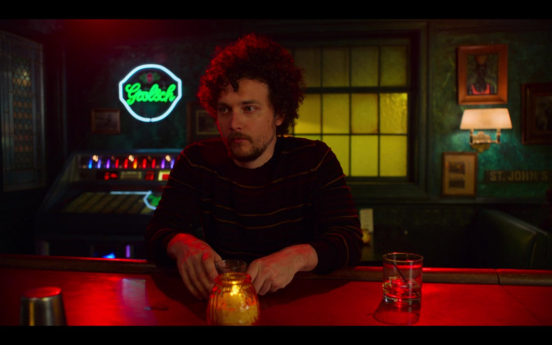 Grolsch Beer Neon Sign in High Fidelity Season 1 Episode 8 Ballad of the Lonesome Loser (2)