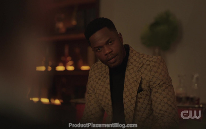 Gucci Jacket and Pants Suit Worn by Sam Adegoke as Jeff Colby in Dynasty S03E14 That Wicked Stepmother (4)