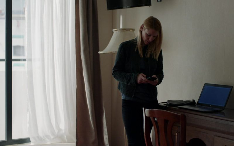HP Laptop Computer Used by Claire Danes as Carrie Mathison in Homeland Season 8 Episode 1 Deception Indicated (2020)