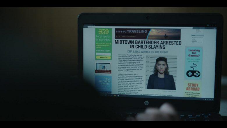 HP Laptop Computer in The Outsider Season 1 Episode 5 Tear-Drinker