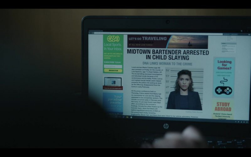HP Laptop Computer in The Outsider Season 1 Episode 5 Tear-Drinker