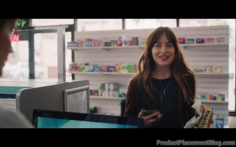 Haribo Gummy Candy Held by Dakota Johnson as Maggie Sherwood in High Note (2019)
