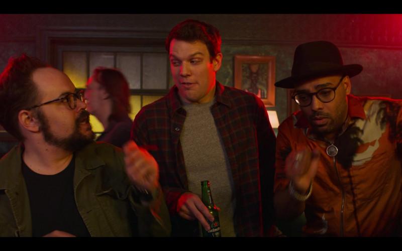 Heineken Beer Enjoyed by Jake Lacy as Clyde in High Fidelity Season 1 Episode 7