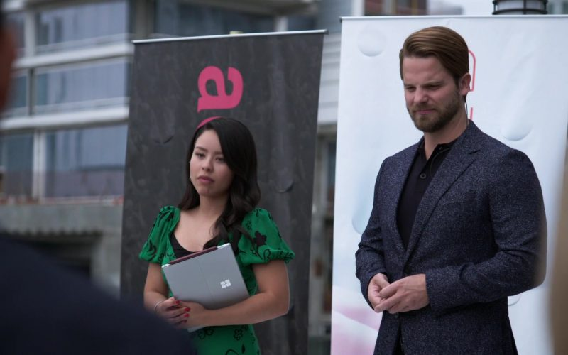 Microsoft Surface Laptop Held by Cierra Ramirez as Mariana Adams Foster in Good Trouble Season 2 Episode 14 In Good Conscience (1)