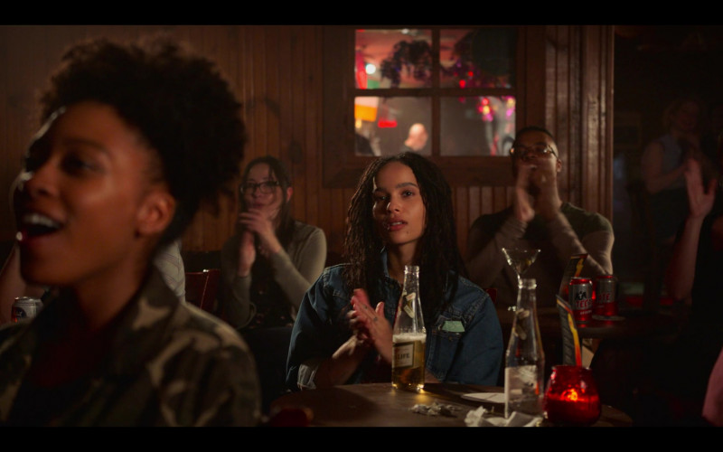 Miller High Life Beer Enjoyed by Zoë Kravitz as Rob in High Fidelity Season 1 Episode 4