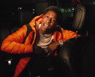 Moncler Orange Down Jacket Worn by YoungBoy NBA in Lil Top (9)