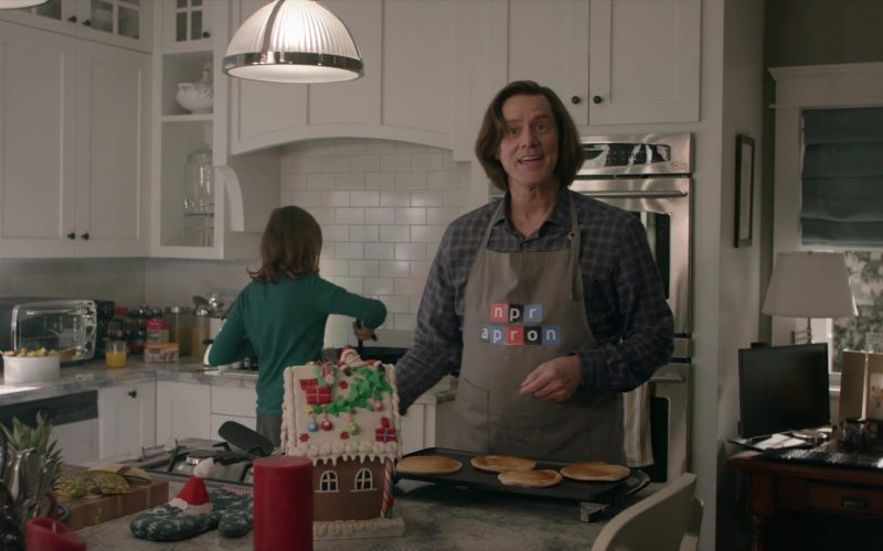 NPR Apron Worn by Jim Carrey as Jeff Piccirillo in Kidding Season 2 Episode 1 The Cleanest Liver in Columbus, Ohio (1)
