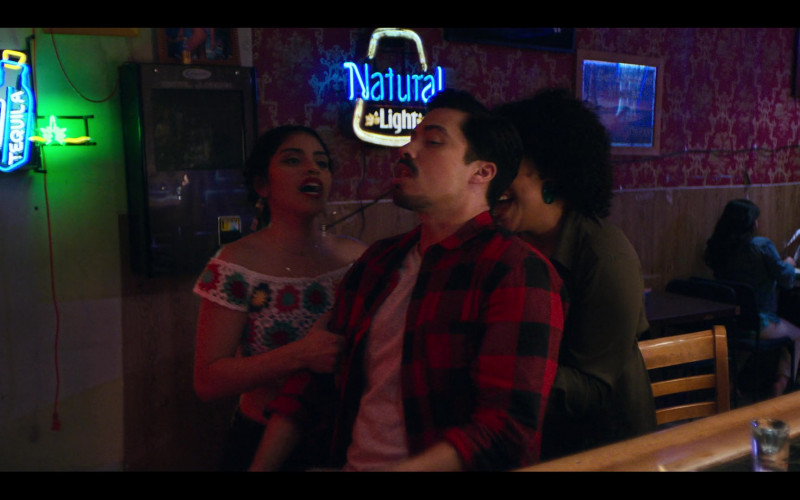 Natural Light Beer Neon Sign in Gentefied S01E01 Casimiro (2020)