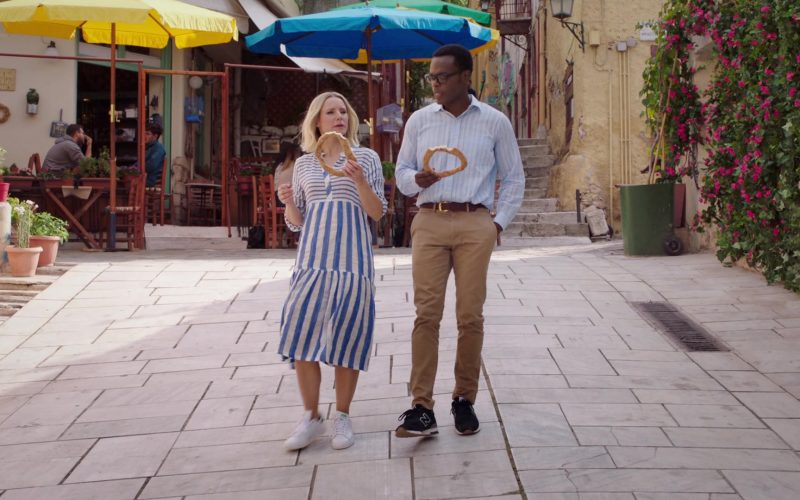 New Balance Sneakers in Black Worn by William Jackson Harper as Chidi Anagonye in The Good Place Season 4 Episode 13