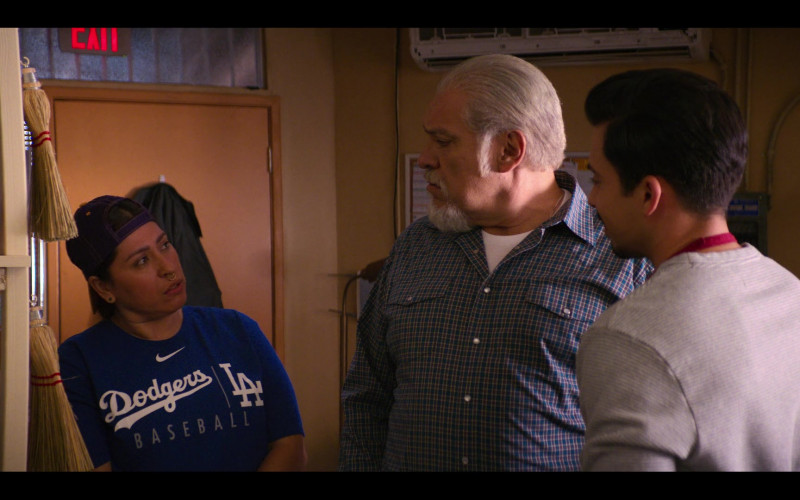 Nike x Dodgers Blue T-Shirt in Gentefied S01E09 Protest Tacos (2020)