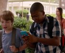 Nokia Lumia Blue Smartphone Used by Mekai Curtis in Alexander and the Terrible, Horrible, No Good, Very Bad Day (3)