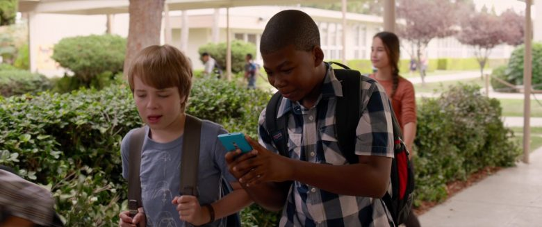 Nokia Lumia Blue Smartphone Used by Mekai Curtis in Alexander and the Terrible, Horrible, No Good, Very Bad Day (2014) Movie
