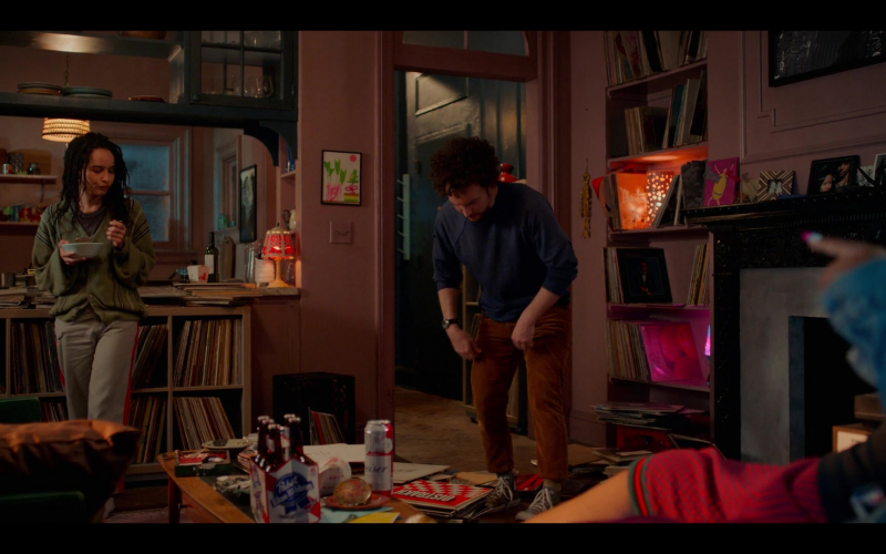 Pabst Blue Ribbon and Budweiser Beer in High Fidelity Season 1 Episode 2 Track 2 (1)