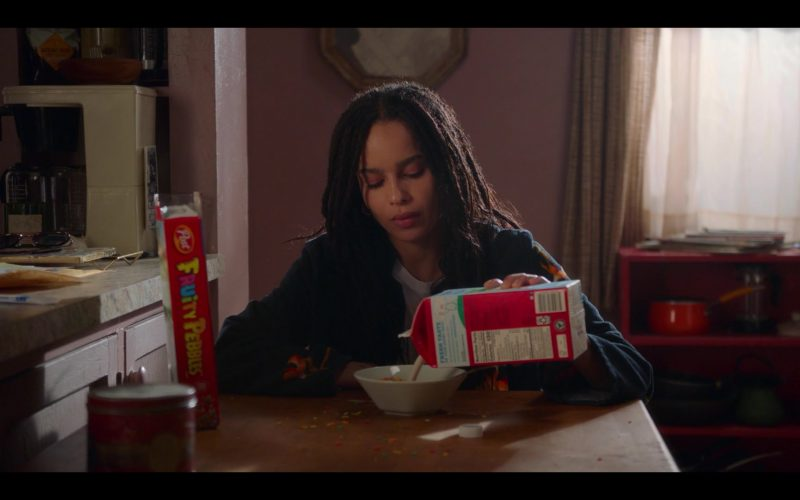 Post Fruity Pebbles Breakfast Cereal Enjoyed by Zoë Kravitz as Rob in High Fidelity Season 1 Episode 1 (1)