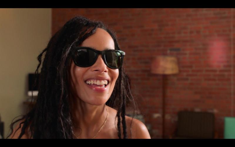 Ray-Ban Wayfarer Sunglasses Worn by Zoë Kravitz in High Fidelity Season 1 Episode 6 (3)